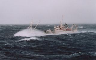 Uvær på Vestfjorden