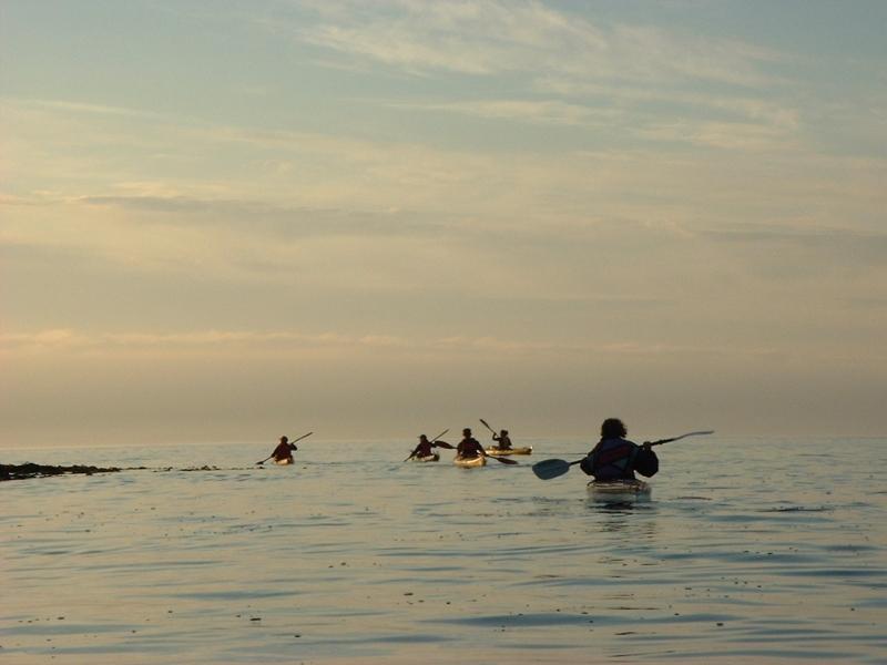 Kajakk og hav