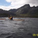 Litt bølgesurfing med enkelte støttetak, under passering av Kjeldebotn!