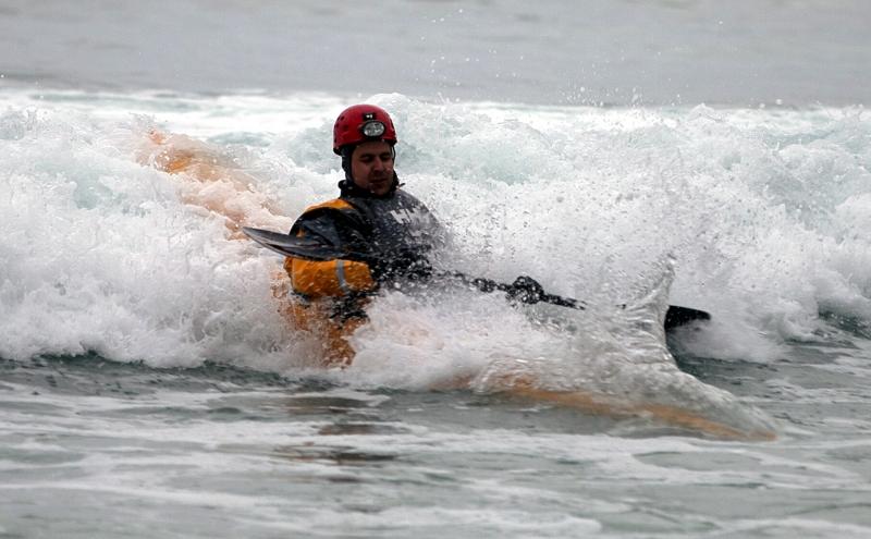 Kristian i bølgen på Unstad