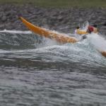 Kristian ut gjennom surf på Unstad