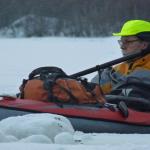 Vinterpadling på Kløkstad med Heinz
