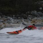 Gøran på surf i Tysfjord