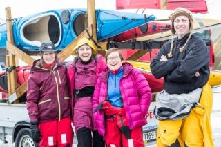 Mange Tromsøpadlere tok turen til Offersøy